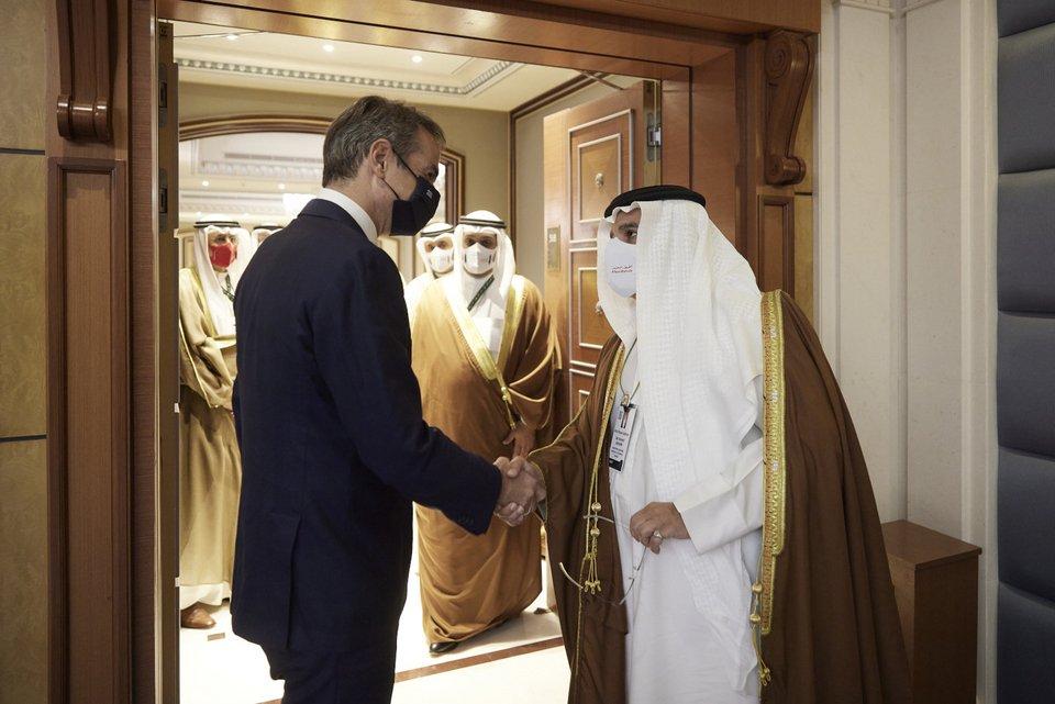 Συνάντηση Μητσοτάκη με τον Πρίγκιπα Διάδοχο και Πρωθυπουργό του Μπαχρέιν- Τι συζητήθηκε